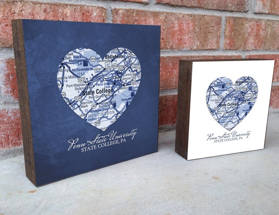 Penn State Wedding Gifts: Penn State Nittany Lions State College By Droppedpinshop