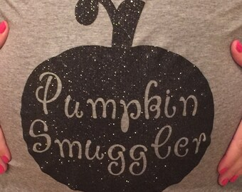 Pumpkin Smuggler Maternity Iron-On
