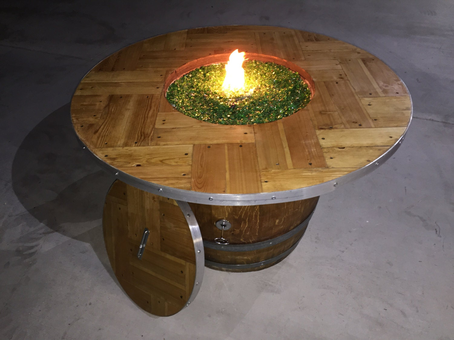 french wine barrel fire pit whiskey barrel by