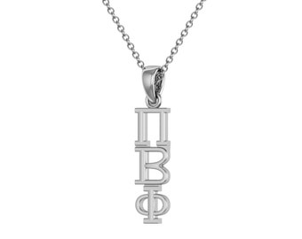 Pi Beta Phi Necklace - Sterling Silver/ Pi Phi Necklace / Lavalier / Big Little Gift / Sorority Jewelry