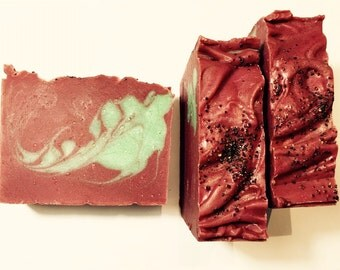 Pomegranate Pear Soap, Pear Soap, Cold Process Soap, Pomegranate Soap, Fruit Soap, Sweet Soap, Homemade Soap, Handmade Soap, Summer Soap