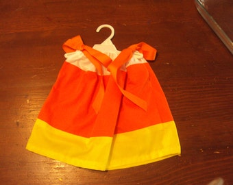 Candy Corn Dress/Baby Girl/Toddler/Costume Dress/Halloween/Autumn