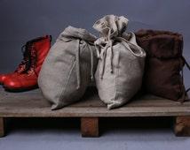 Linen bag / Natural Linen pouches / Gift bag / Flax linen bag / Storage bag