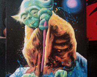 Star wars painting, star wars art, star wars oil painting, oil painting of star wars, star wars painting by kampon