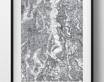 Seattle, WA Map Poster 11x17 18x24