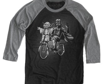 Star Wars Shirt- Darth Vader and Yoda Longsleeve Shirt