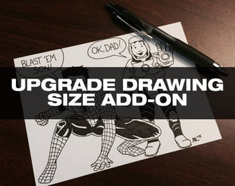 Upgrade Drawing Size Add-On