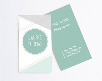 DIY Printable Lines & Shapes Abstract Business Cards