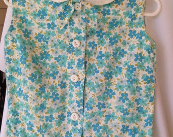 Vintage Lurrie-Pizer girl's sleeveless top from the 1960s