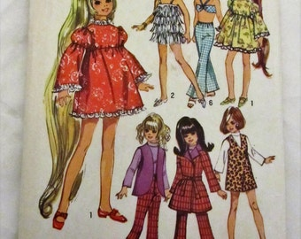 Simplicity Pattern #8519 for Crissy   1969   Complete