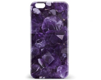 1366 // Purple Gemstone Amethyst Mineral Phone Case iPhone 5/5S, 6/6S, 6+/6S+ Samsung Galaxy S5, S6, S6 Edge Plus, S7