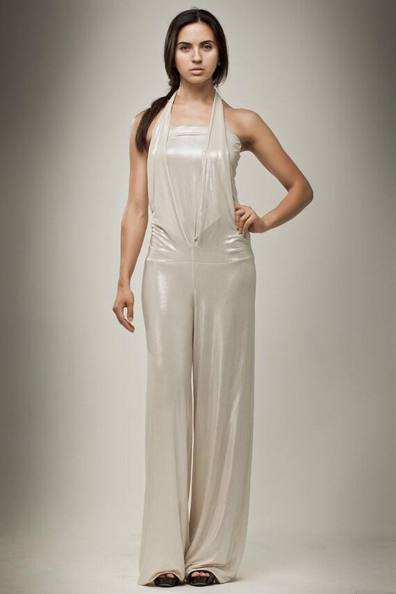 ON 50% SALE Evening Coctail Jumpsuit Gliter Designer By KATANALINE