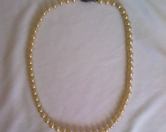 vintage necklace, former real pearls and silver 835