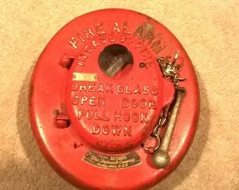 Antique Cast Iron Autocall Company Type LP Fire Alarm