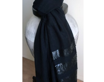 Pure Wool Scarf with Sequins