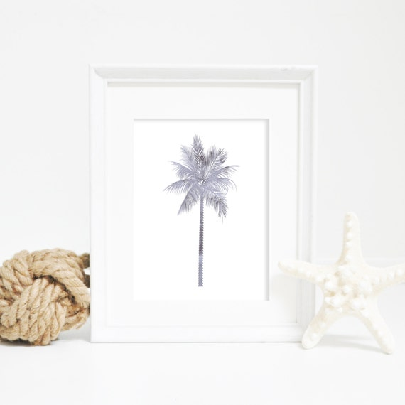 Gray Palm Print, Watercolor Palm Tree Art, Wall Prints, Palm Tree, Beach Nursery Art, Palm Tree Wall Art, Digital Wall Art, Palm Wall Print