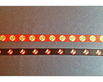 Cat or Dog 3/8 Wide Custom Made Adjustable Flash Gordon or Ghostbusters Inspired Grosgrain Collar
