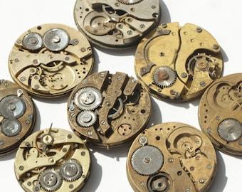 Set of 8 Parts Watch Steampunk Movements Mechanims Art 40 mm DIY ж