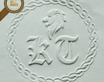 Lion - Customized Embosser Stamp Template by Get Marked (ES0006)