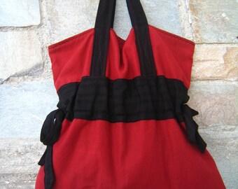 Large fabric tote bag