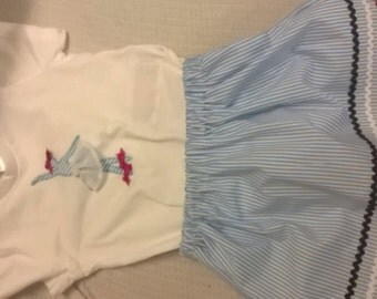 Skirt and shirt set girl size 2-3 years