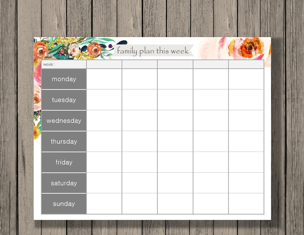 week calendar printable vatoz atozdevelopment co