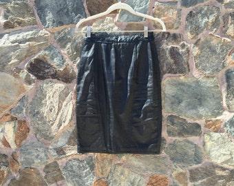 Vintage Leather High Waisted Mini Skirt