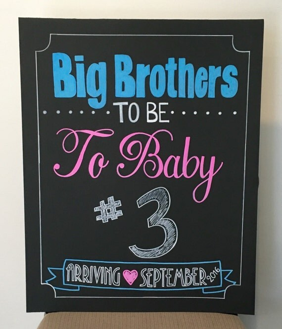 Welcome Baby Sister Quotes: Items Similar To Pregnancy Announcement Chalkboard- Big