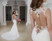 Wedding dress, lace wedding dress, unique wedding dress, bohemian wedding dress, boho wedding dress, wedding gown, white/ivory