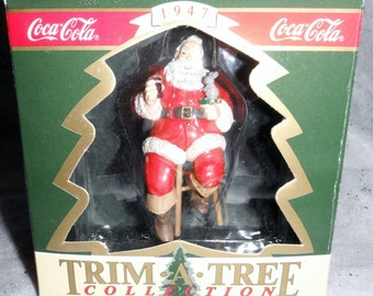 Trim A Tree Collection Santa On Stool Released 1990
