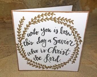 Handmade Savior Greeting Card & Envelope