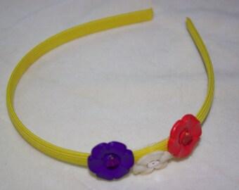 Childrens flower headband.