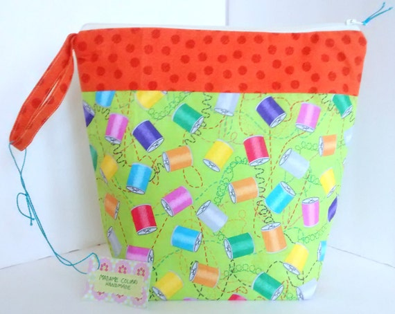 Knitting Project Bags For Sale : Items similar to sale fabric bag small storage