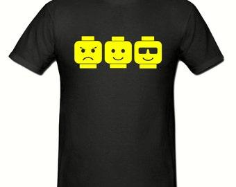 Lego heads t shirt, t shirt sizes small - xxl, gift,Lego t shirt,unisex t shirt