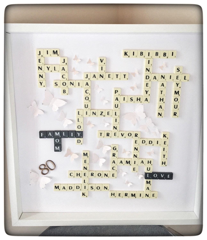 Scrabble Names Wall Art Large Scrabble Frame