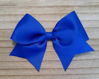 Large Royal Blue Traditional Hair Bow