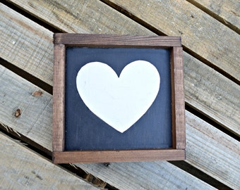 Rustic, Wooden Sign, Heart, Wall Decor