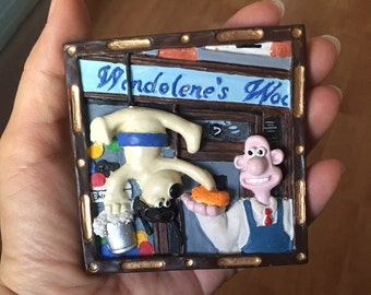 Vintage Wallace and Gromit 1989 British Movie Wall hanging or Free Standing