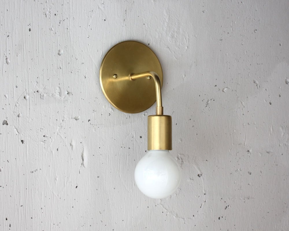 Modern Brass Sconce Roy Simple wall light Mid century