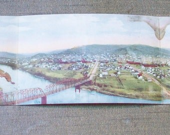 Early 1900's Trifold Postcard - Roseburg, Oregon