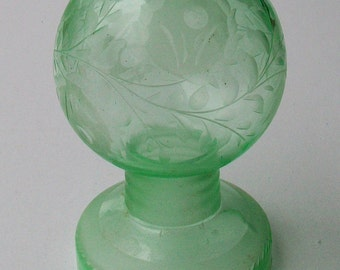 Vintage Vaseline Glass Night Light Globe