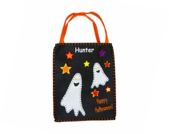 Personalized Ghosts at Dusk Trick or Treat Bag - Small