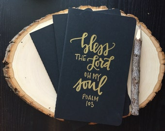 Personalized Hand Lettered Moleskine