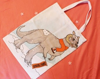 Browns Fan Tauntaun print tote