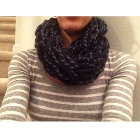 Arm Knitting Yarn : Handmade infinity scarf arm knitting yarn lion brand