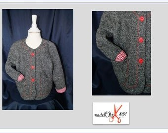 Girl ja from wool. Exclusive design. (D) Gr. 92-98 (GB) 2-3. (US) 2T-3T.