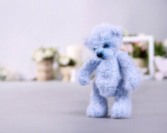 Knitted Teddy Bear Crochet Amigurumi Yarn Bear Artist Knit