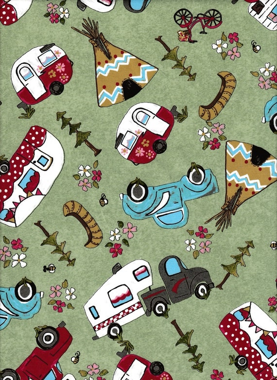 Glamping Gypsies Camping Fabric Camper Fabric