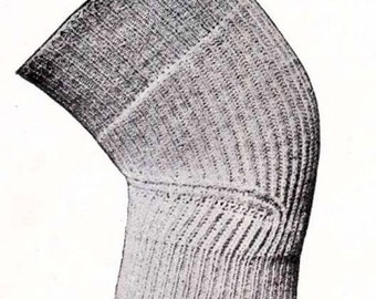 PDF Titanic Era Knee Cap Warmers Knitting Pattern Instant Download