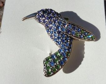 Monet Hummingbird Brooch